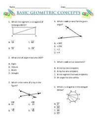 image result for test paper of maths basic geometrical concepts