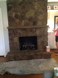 stone wall fireplace building a rock fireplace trendesire me
