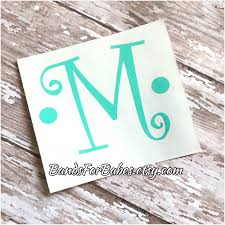monogram letter stickers initial vinyl decal decorative monogram sticker car decal