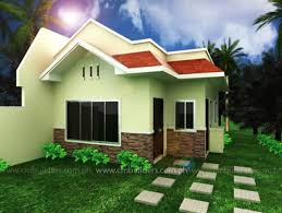 decor cream modern house colors with min garden and roof for