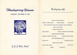 1943 thanksgiving day dinner menu from uss island cve 65