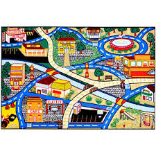 Kids Race Track Rug by Rug City Roselawnlutheran