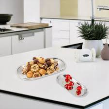 Bathroom Countertop Organizer by 2pcs Set Stainless Steel Tray Biscuit Fruit Trays Guest Towel