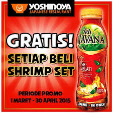 Teh Javana yoshinoya indonesia on yoshinoya promo nikmatin segarnya