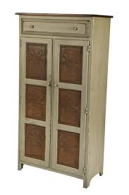 amish handmade large 5 u0027 pie safe hutch with punched tin panels in