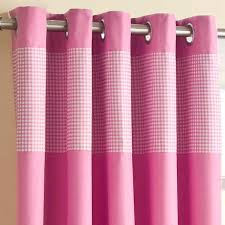 Pink Gingham Curtains Gingham Thermal Lined Eyelet Curtains Readymade Ring Top Curtain
