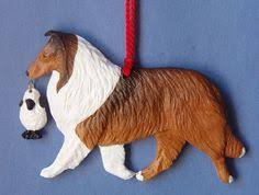 spaniel and white with bone artist sculpted
