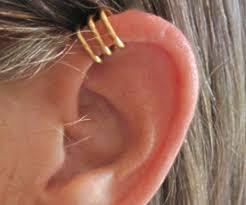 cuff piercing no piercing men s or unisex cartilage ear cuff