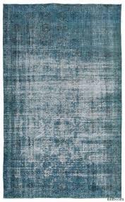 k0014977 turquoise over dyed turkish vintage rug kilim rugs
