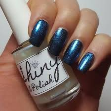iridescent aqua top coat shiny nail polish 15ml indie 5 free vegan