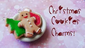 christmas cookies charms polymer clay tutorial christmas month