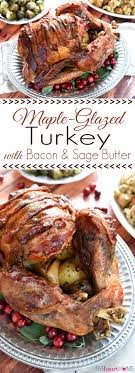 maple glazed turkey with bacon and butter