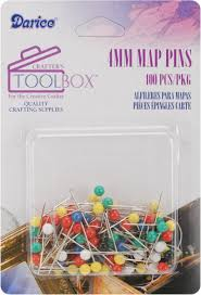 Map Pins Amazon Com Darice 4mm Map Pins With Colored Heads Assorted Color