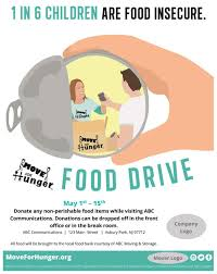 food drive poster template free start a food drive move for hunger move for hunger