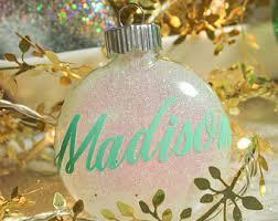 custom name ornament etsy