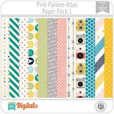 pink paislee paper packs ac digitals