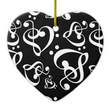 black white treble clef ornaments keepsake ornaments zazzle