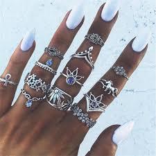 knuckle rings images 7 styles vintage knuckle rings for women boho geometric flower jpg