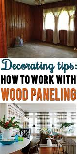 learn how to disguise or decorate around dark wood paneling