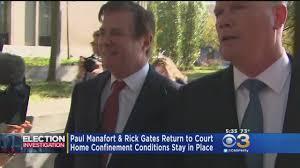 home confinement paul manafort rick gates return to court youtube