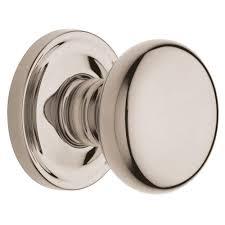 baldwin estate classic lifetime polished nickel half dummy knob