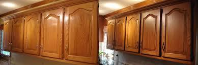 Kitchen Cabinets Glazed My Golden Oak Cabinet Kitchen Remodel Darkened With Glaze And