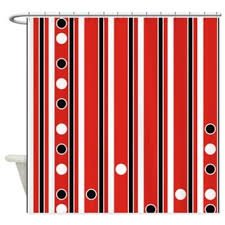 Red White Striped Curtains Best Red Striped Shower Curtain Products On Wanelo