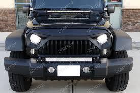 jeep jk hood led light bar 25 144w high power led light bar kit for jeep wrangler jk