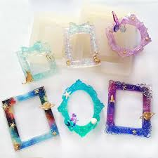 diy resin necklace images 6 styles frame liquid silicone mold diy resin jewelry pendant jpg