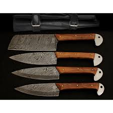 damascus kitchen cutlery set set of 4 black forge knives