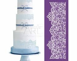 cake stencils etsy