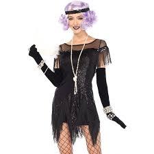 foxtrot flirt roaring 20s black flapper costume halloween costume