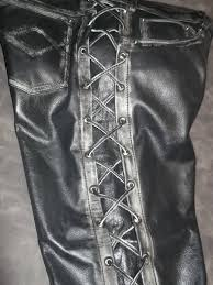 biker pants biker pants leather with abrasion effect brown or black handmade