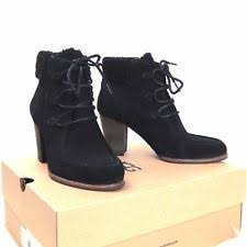 s ugg ankle boots with laces ugg australia 1008620 analise black suede lace up s booties