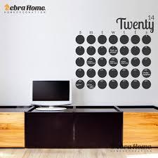 home decor planner diy large chalkboard calendar weekly wall decal sticker planner