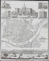 Map Of Cincinnati Cincinnati Map U2013 1850 U2013 Onken Cincinnati History