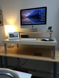 Standing Computer Desk Ikea Ikea Hackers A Better Computer Desk Shelf Ikea Hacks U0026 Other