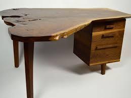 Custom Live Edge Desk  Custom Furniture And Leather Goods - Custom furniture austin