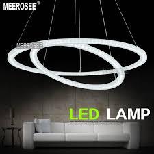 led circle light bulb ihausexpress white acrylic led light fixture 2 rings led