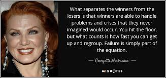 Hit The Floor Quotes - georgette mosbacher quote what separates the winners from the