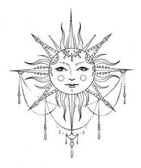 38 best bohemian sun and moon tattoos meaning images on
