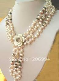 white shell pearl necklace images Wholesales design garnet freshwater white pearl necklace shell jpg