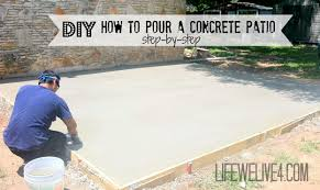 Painting A Cement Patio by How To Pour A Concrete Patio Diy