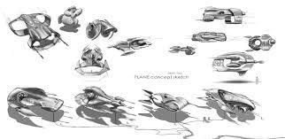 plane thumbnail sketch seanyoodesign