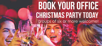 book your staff holiday lunch or party with us