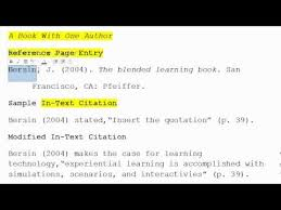 how to use apa format for citation no 1 book with one author