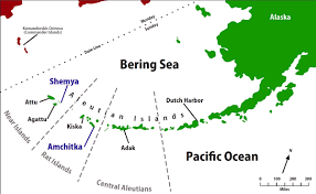 Alaska On A Map by Aleutian Islands Map Alaska Trekker