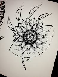 sunflower sketch tattoo by antoniettaarnonearts on deviantart