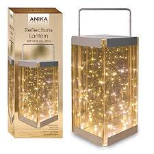 rice lights battery operated anika 62190 reflections lantern with battery operated led rice