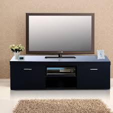Media Center Furniture by Homcom 2 Tier Tv Stand 140lx40wx44h Cm Black Aosom Co Uk